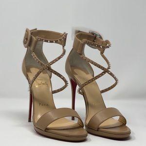 Christian Louboutin Choca Lux 120mm nude  heels
